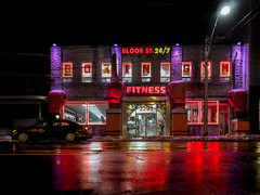 Fitness (Anthony Hutchinson) Tags: toronto night urban torontoatnight architecture iphone ontario canada nightphotography gym fitness city