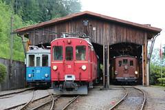 2015-05-24, BC, Dépôt Musée de Chaulin (Fototak) Tags: train schmalspurbahn treno railway tram strassenbahn bc tl rhb bob switzerland 28 35 29