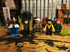Fresh Meat (Lord Allo) Tags: lego dc new 52 suicide squad iceberg voltaic unknown soldier yo lime light deadshot king shark harley quinn el diablo black spider captain boomerang