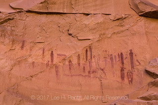 High Gallery of Barrier Canyon Style Pictographs in Horseshoe Canyon