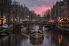 G&T Amsterdam (reinaroundtheglobe) Tags: amsterdam amsterdamcanals noordholland nederland holland thenetherlands netherlands dutchlandscape dutch streetlife sunset canal canalhouses boat cruise illuminated skyporn