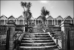 10.01.18 Beach Huts.. (A.P.PHOTOGRAPHY.) Tags: greenhillweymouthdorset blackwhite weymouthdorset beach beachhuts nikond7000 nikorr18300lens views sea sky