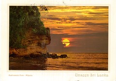 Postcrossing LK-12808 (booboo_babies) Tags: beach srilanka sunset sunrise postcrossing