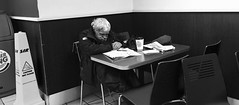 Sleeping in London (Luca Lagò) Tags: apple iphone iphone6 street londra sleeping bw bn burgerking london