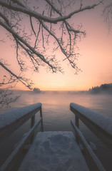 165 (petrisalonen) Tags: winter freezing water fog finland nature river vuoksi imatra glow snow sun yellow sunshine light canon1635f4lisusm