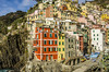 Riomaggiore, one of the Cinque Terre (5 Villages). Italy (firstfire53) Tags: worldtour adventuretravel europe italy cinqueterre riomaggiore ocean water sea rocks cliffs