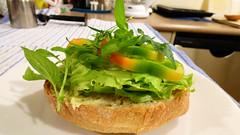 Steak and salad bun (Sandy Austin) Tags: panasoniclumixdmcfz70 sandyaustin massey westauckland auckland northisland newzealand steak salad bun airfryer airoven homemade