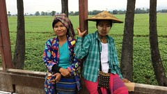 South of Naypyidaw Burma 8th January 2018 (loose_grip_99) Tags: naypyidaw burma people train railway railroad freight farrail january 2018 burmese lady thanaka