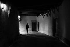 (cherco) Tags: alone lonely light luz lampara lantern solitario solitary silhouette silueta shadow sombra street shadows man human hombre composition composicion canon city ciudad blackandwhite blancoynegro exit salida oscuridad darkness dark urban medieval sundaylights