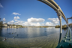 Bouchemaine bridge, flood and Kayak (Thomas Jean Langlet) Tags: bouchemaine loire valley angers sony alpha 6000 samyang rokinon 8mm 8mmf28 f28 lightroom raw photography photographie thomas jean langlet