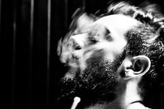 Smoke Face (yemenozan) Tags: smc pentaxm 50mm f17 smcpentaxm50mmf17 pentax k5 smoke bw black white nargile kalyan hookah hooka waterpipe