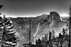 Sunrise (Doug Santo) Tags: sunrise halfdome yosemitenationalpark landscapephotography blackandwhite