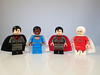 Lego Supermen of The Multiverse (Alien Hand) Tags: lego minifigures dc superman multiverse overman red son supremo leyile cyclops ra pad print