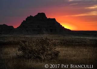 Sunset- Badlands, SD-0417