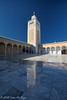 Minaret with a reflection (taharaja) Tags: aquaductmosaic carthage colloseum doors eldjem fatemid fort harbour hotsprings jamealakabibinnafae kairaoun kasbah maghreb mahdia masjod minaret montasir mosque port qayrawan qibla roman rabat sousse tiles tunisia