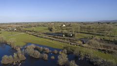 2807 working 1030 Galway-Ennis at Castletown 20-Feb-18 (metrovick) Tags: irishrail ie2800class railroad railway railwaygalway railcar drone