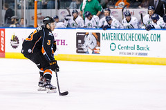 """Kansas City Mavericks vs. Florida Everblades, February 18, 2018, Silverstein Eye Centers Arena, Independence, Missouri.  Photo: © John Howe / Howe Creative Photography, all rights reserved 2018 • <a style=""""font-size:0.8em;"""" href=""""http://www.flickr.com/photos/134016632@N02/39491127795/"""" target=""""_blank"""">View on Flickr</a>"""