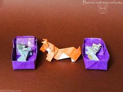 Bonne nuit mes enfants - Good night my children. (Magic Fingaz) Tags: anjing barthdunkan chien chó dog hond hund köpek origami perro pies пас пес собака หมา 개 犬 狗