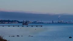 The view towards Helsingborg (frankmh) Tags: landscape seascape hittarp helsingborg öresund skåne sweden outdoor