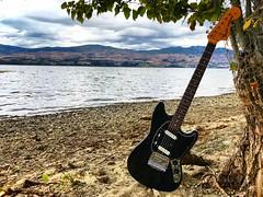 Lean on Me (Pennan_Brae) Tags: kelownabc okanaganvalley okanagan okanaganlake kelowna offsetguitar sixstring musicphotography music guitar electricguitars electricguitar fenderguitars fenderguitar fendermustang fender