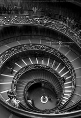 Vatican stair (Frank Boston Photographie) Tags: museum vatican spiral staircase travel old down architecture stairs italy rome interior step italian winding perspective black religion round vintage tourism go exit climb stair landmark building europe elegant downstairs history upstairs capital abstract