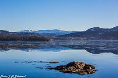 Tranquillity (2000stargazer) Tags: fanafjorden bergen norway fana svinningen fjord mountains horizon peace tranquillity landscape seascape reflections nature blue winter february canon