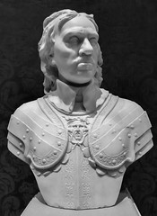Oliver Cromwell (Thad Zajdowicz) Tags: olivercromwell bust statue sculpture art thehuntingtonmuseum sanmarino california usa zajdowicz blackandwhite monochrome black white bw light shadow availablelight creativecommons english lightroom face nose eyes chin history portrait man leica