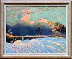 The Edge of Town, Winter Sunset (Will S.) Tags: painting art mypics ottawa ontario canada nationalgalleryofcanada