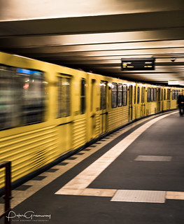 Train Passing Through Alexanderplatz Underground Station