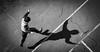 DSCF5323 (靴子) Tags: 人 兒童 運動 跳繩 黑白 單色 bw bnw kid sport xt2 fuji