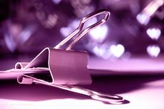 for loveletters (photos4dreams) Tags: fasten fastener photos4dreams p4d photos4dreamz canoneos5dmark3 canoneos5dmarkiii macro makro paperclip clip hmm macromondays bokeh hearts herzen pink