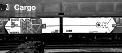 graffiti on freighttrains (wojofoto) Tags: amsterdam graffiti cargotrain freighttraingraffiti freighttrain vrachttrein fr8 wojofoto wolfgangjosten zwartwit monochrome blackandwhite delta math