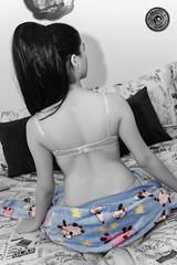 Kigurumi (T'kkyl) Tags: bw colors kigurumi bed back bra