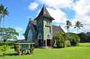 Hawaii, Kauai- Hanalei, Waioli Huiia Church (EC Leatherberry) Tags: church hawaii kauai nationalregisterofhistoricplaces kauaicounty hanaleikauai waiolihuiiachurch gothicstyle unitedchurchofchrist americangothicstyle congregationalchurch 1912