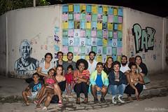 Construção do mural Paginário  Lona Cultural da Maré