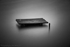 Marooned in a Mill Pond #2 (Fiverdog) Tags: carrmilldam sthelens merseyside leefilter bigstopper longexposure le bw monochrome fishingplatform fishing water nikond750