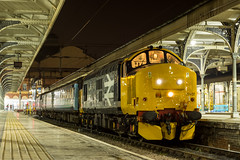 37407 Norwich 20/02/18 - 37407 idles away at Norwich, waiting to leave with the 2105 to Lowestoft. After a complete rebuild at Derby, the DRS machine has finally been let out to play. It certainly sounded and looked fantastic, long may it continue. (rhayward92) Tags: 37407 drs direct rail services br british large logo greateranglia short set