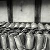 waiting (Bernhardt Franz) Tags: waiting dachpfanne pantile fachwerkhaus halftimber facade wall building blackandwhite bw flickr canon ixus tiling roofing dachdecken mühlenhof münster laub leaves