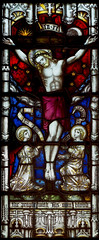 Crucixion (badger_beard) Tags: church stained glass cottered herts hertfordshire east vitrail parish rural country clayton bell st john baptist
