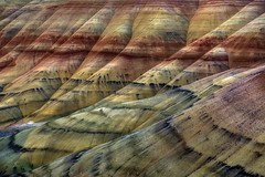 Painted Folds - Oregon (Mark Metternich) Tags: ngc northwest pacific eastern oregon ultimate desert high markmetternich markmetternichcom workshops workshop tutorials video instruction colorful ripples painted line grass sediment hills hill