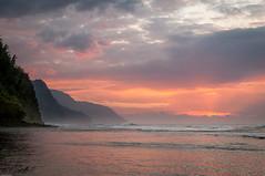 20140201-_DSC5436 (bfluegie) Tags: hawaii kauai keebeach beach ocean sunset water d90 nikond90