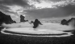 Black Beach stormy sky (Camera_Shy.) Tags: black beach iceland stormy sky landscape seascape sea rocks nikon d810