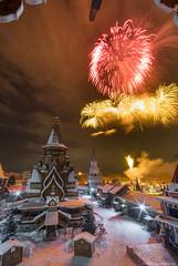 20180223DSCF4481-Edit (Gorshkov Igor) Tags: moscow night city winter cityscape izmaylovo kremlin church temple old tower landmark firework salute celebration