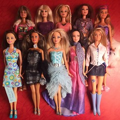 New Dollies : Fashion Fever Lot (01/19/2018) (MyMonsterHighWorld) Tags: teresa barbie lea skipper tia drew fashion fever modern trends pajama party style for 2 hilary duff mattel chic 2004 2005 makeup