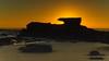 Sunrise Seascape and Silhouettes (Merrillie) Tags: daybreak sunrise nature dawn rocky water centralcoast morning newsouthwales rocks earlymorning nsw sea silhouettes ocean cavesbeach landscape waterscape coastal swansea sky seascape australia coast outdoors waves