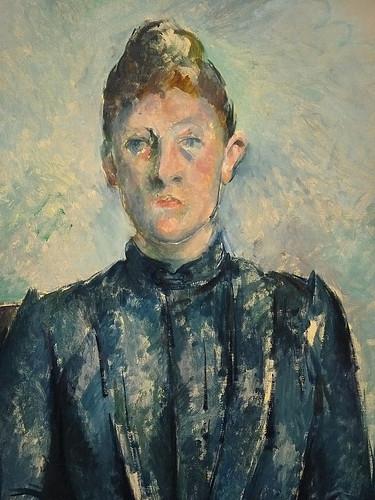 CEZANNE,1890 - Portrait de Madame Cézanne (Orangerie) - Detail b
