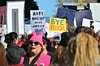Bye Felicia (Pedestrian Photographer) Tags: womens march 2018 los angeles downtown protest dtla dsc3765b dsc3765 bye felicia pussy hat pussyhat byefelicia sign signs signage hate does make america great ribbet