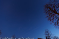 Wide Angle - Iridium 83 produces a flare / glint (Vaughan Weather) Tags: iridium83 flare iridium astronomy magnitude6 iridiumflare predawn glint iridium83satellite space sky reflection satellite