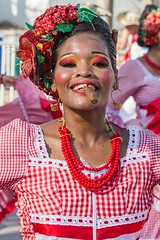 Cumbia on the carnaval in Barranquilla, Colombia (_Maganna) Tags: barranquilla colombia cumbia carnaval cigar dance colours summer outside outdoors colombian parade nikon travel culture tradition portrait woman makeup