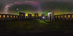 Esperance Stonehenge 360 (Astronomy*Domine) Tags: stonehenge esperance westernaustralia nightscape night selfie flash canon 6d samyang 14mm equirectangular 360 panorama orion baader mod astrophotography astronomy astro airglow granite
